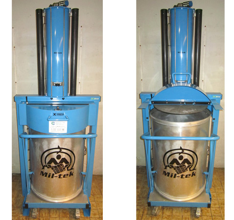 Mil-tek restafvalpers X-Press 200L (perst extra diep)